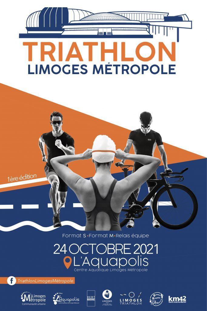Affiche triathlon limoges 2021