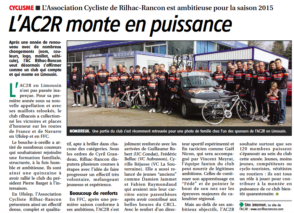 Article AC2R en limousin