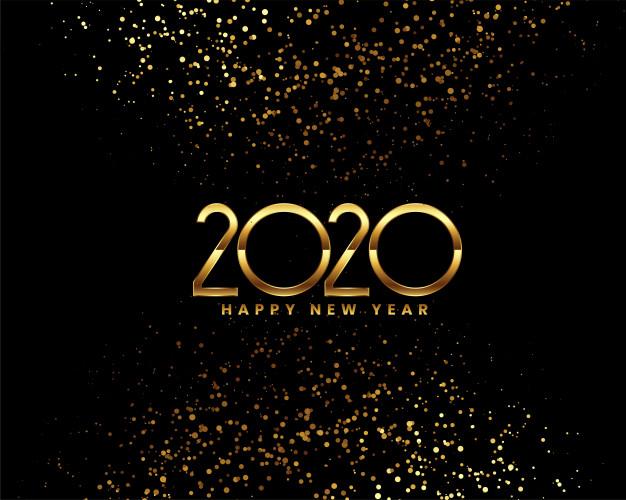 Bonne annee 2020 celebration confettis dores 1017 21341