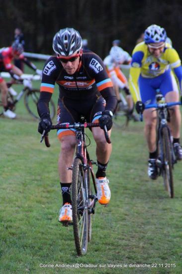 David colomine au cyclocross oradour sur vayres dimanche 22 novembre